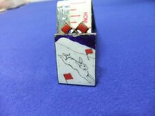 vtg badge hunt hunting ? hare snow red flags hand enamelled 1900s victorian