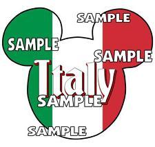 Disney Epcot Italy Mickey Ears Scrapbook Paper Die Cut Embellishment Piece