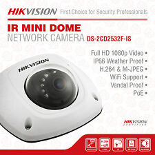 Hikvision DS-2CD2532F-IS HD Mini Dome Camera, 3MP IR, PoE, 2048 X 1536, 4mm Lens