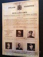 1920 Irish Most Wanted By The British (inc Michael Collins) - Very Rare Print