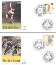 Germany 1991 FDC 1499-02a  Sport Bike Bicycle Rower