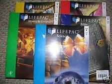 ALPHA OMEGA LIFEPAC 5 SUBJECT STUDENT TEXTBOOK SET GRADE 8 Math Bible Science