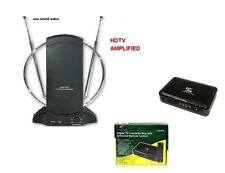 Sunkey Digital to Analog Converter Box With Remote +Amlified TV Antenna Package