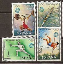 Spain Edifil # 2098/2101 ** Olimpiada Munich 1972