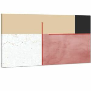Abstract Blush Pink Black Watercolour Canvas Art Prints