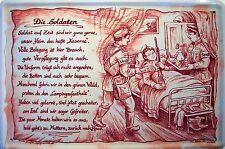 Beruf Soldaten Soldat Blechschild Schild Blech Metall Metal Tin Sign 20 x 30 cm