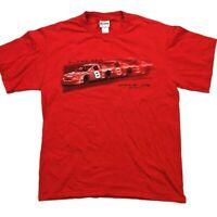 Vintage Chase Authentics Dale Earnhardt Jr Tee T-Shirt Size Medium Red