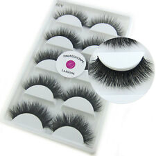 LASGOOS Real Mink 3D False Eyelashes Reusable Messy Cross Fake Eye Lashes Makeup