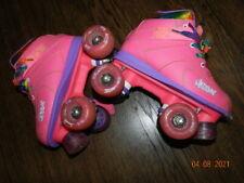 Light up Roller Skates by Crazy Skates -Pink Rainbow size 3 girls