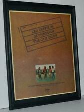 Led Zeppelin 1979 In Through The Out Door Promotional Framed Poster / Ad