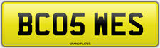 WEST WESLEY WESTON REGISTRATION BC05 WES NUMBER PLATE WESS WESI WEST HAM BROM UK