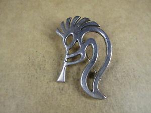 Navajo Sterling Silver Kokopelli Pendant/Brooch, Allison Snowhawk Lee, 11.9g