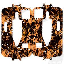 Traxxas T-Maxx New Era Big Block Chassis Plate Protector Kit - Flames Orange
