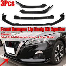 For 2019 2020 Nissan Altima Carbon Fiber Look Front Bumper Lip Spoiler Splitter