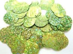 100 Gramm Pailletten-Geld Durchmesser 20mm Farbe: Hellgrün