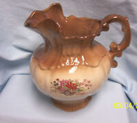 PITCHER Collectible Vintage 1975 Arneis Brown Water Pitcher, Arneis Pottery A-1