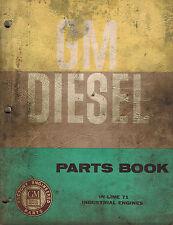GM DIESEL INDUSTRIAL IN-LINE 71  ENGINES PARTS  MANUAL 1961 X