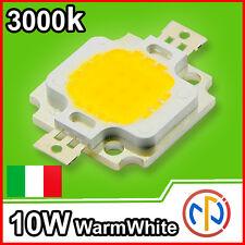 CHIP POWER LED 10W 12V Bianco Luce Calda 3000-3500K Alta Luminosità