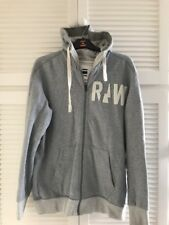 Mans Gstar Hooded Zip Jumper Size Large Used