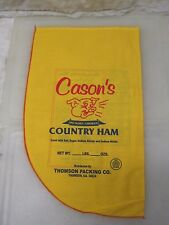 (10) New Country Ham Cloth Bags Sack Folk Art Quilt Craft Material Country Decor
