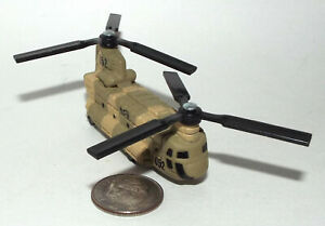 Hot Wheels Military CH-47 Chinook Helicopter in Dark Desert Camouflage # 052