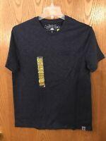 Copper & Oak Men's Casual Shirt Short Sleeve Top Color: Indigo Size M