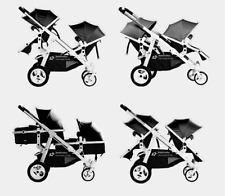 BabyFiveStar GESCHWISTERWAGEN ZWILLINGSWAGEN KINDERWAGEN BUGGY BLACK NEU OVP269