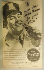 "Coca-Cola ad: ""Does Something For Your Thirst"" 1930's ~ 6.5 x 9 inches 1930's"