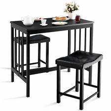 Costway 3 PCS Kitchen Table Chair Set for Home Dining Room Dining Set w/2 Chairs