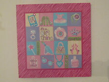 "20"" Pink Zebra Wall Hanging/Canvas Picture It's A Girl Thing Glitter~Ballet~Star"
