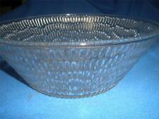 STUNNING DEEP PATTERNED GLASS SALAD / SWEETS  BOWL