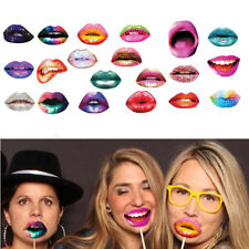 20pcs Funny Lips Mouth Photo Booth Props Wedding Party Selfie Decoration Reunion