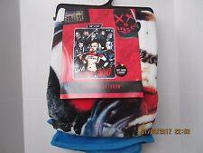 DC Comics Suicide Squad Harley Quinn & Crew Super Plush Throw Blanket New