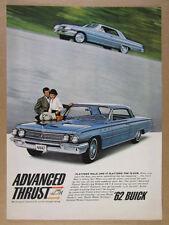 1962 Buick LeSabre 2-door Hardtop blue car color photo vintage print Ad