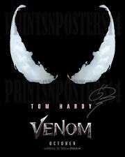 Tom Hardy Venom 11x14 SIGNED REPRINT Marvel Movie #3