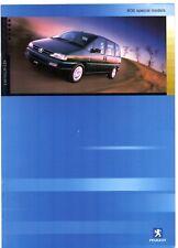 Peugeot 806 Quicksilver & GTX 2000-01 UK Market Sales Brochure 2.0 16v HDi 110