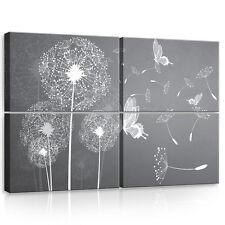 SET (4 teilig) Leinwandbild Wandbild Bild Blumen Pusteblumen Kunst  3FX10158S10