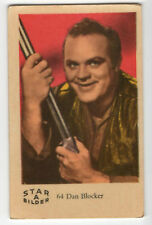 1960s Swedish Film Star Card Star Bilder A #64 US Bonanza actor Dan Blocker