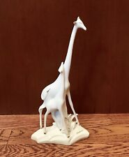Rare Firenze Italy Mother and Baby Giraffe- Signed by Artist Gianfranco