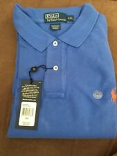 Polo Ralph Lauren Mesh Short Sleeve Men's Polo SS Blue w/ Orange Pony XXL NWT