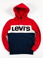 Levis Hoodie Men's Pullover Blue Red White Colour Block Sweatshirt 56613-0000