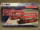 CORGI OM49904 LONDON TRANSPORT THEN & NOW BUS SET NEW ROUTEMASTER RM LT WRIGHT