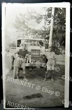 """WW2 Soldier & Army truck named """" Mary """" Middle or Far East - Real Photo Postcard"""