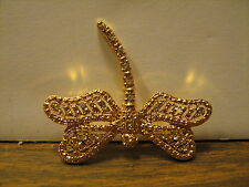 Decorative Dragonfly Pin, Gold Plated? w/Jewels