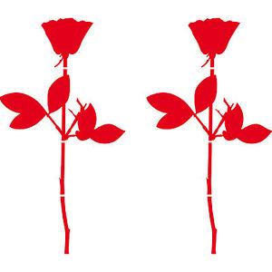 "2 Pcs 20cm 7.9"" rose die cut vinyl decal self adhesive stickers Depeche Mode"