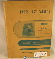 Cincinnati 2, 3 & 4, Milling Machine 130 page, Parts List Manual