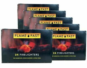 Flame Fast Firelighters Quickfire Barbecue Long Burning Fire Lighters BBQ