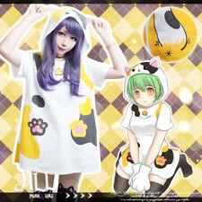 Lolita cartoon fantasy backyard tortie domestic cat paw pouch hoodie�Jj6019】