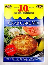 J.O. Spices Brand Crab Cake Mix - 2.48 oz Box (Not Old Bay) - Makes 2 Lbs