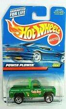 1998 Vintage Hot Wheels Collector #1081 POWER PLOWER Green w/Chrome RZR Spokes